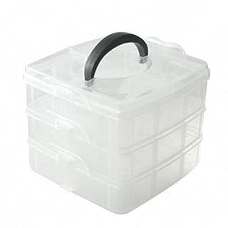 amyjazz 1 Pcs of 3 Tier Adjustable Bead Craft Jewellery Tool Storage Organiser Box