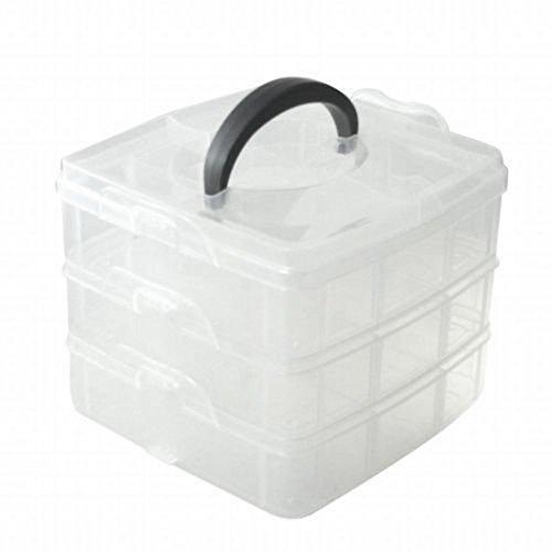amyjazz 1pcs di 3ripiani regolabile perline gioielli strumento Storage Organizer Box