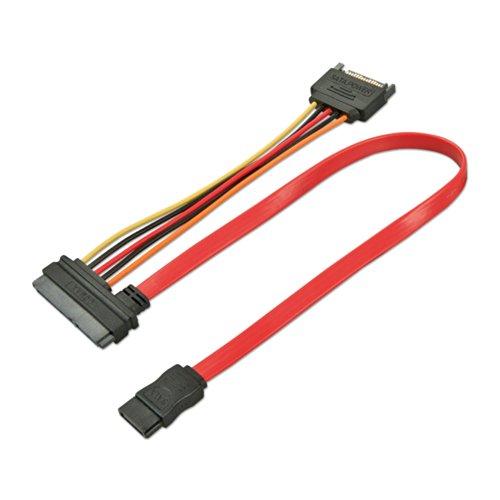Lindy Câble SATA interne, données & alimentation, 0,3m