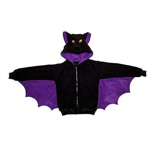 Widmann 07000 - Erwachsenenkostüm Fledermaus, Kapuzenpullover, Gröߟe S / M, schwarz (Fledermaus Kostüm Hund)