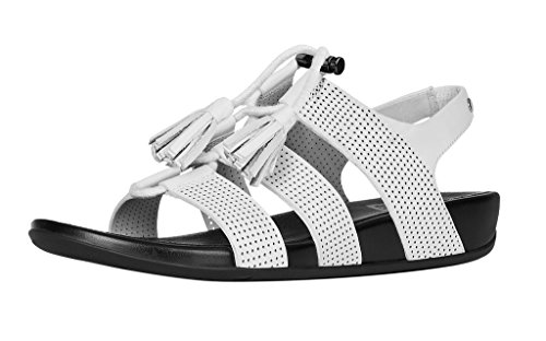 Urban Lacets Cuir Gladdie Perf Sandale Blanc Fitflop XxF4p