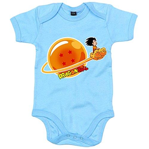 Body bebé Dragon Ball Bola De Dragón 4 estrellas Goku - Celeste, 6-1