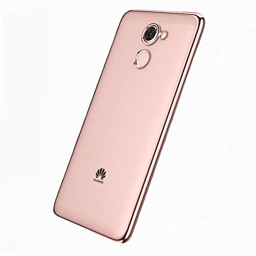Coque Huawei Y7 Prime / Huawei Enjoy 7 Plus, MSVII® TPU Souple Transparent Bumper Coque Etui Housse Case et Protecteur écran Pour Huawei Y7 Prime / Huawei Enjoy 7 Plus - Or rose JY60040 Or rose