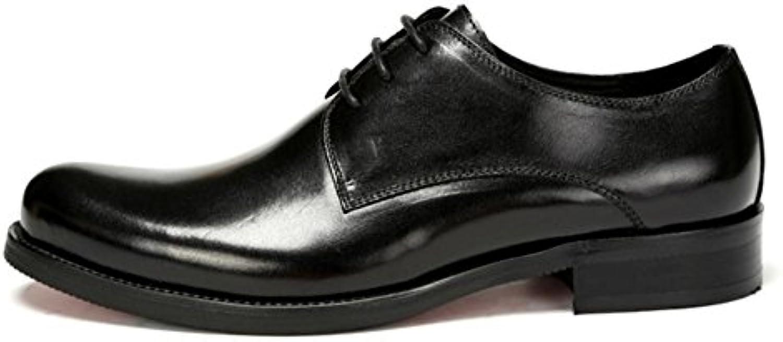 Männer Halbschuhe Leder Schuhe Hochzeit Formal Geschäft Schnüren Schwarz Braun Büro Arbeit Party Größe 38 45