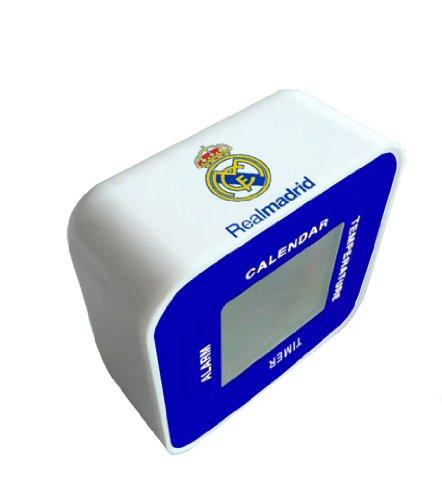 Seva Import Real Madrid Despertador, Unisex Adulto, Negro, Talla Única