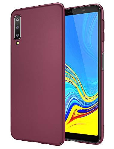 EIISSION Samsung Galaxy A7 2018 Hülle, Hardcase Ultra Dünn Samsung Galaxy A7 2018 Schutzhülle aus Hart-PC Case Cover Handyhülle für Samsung Galaxy A7 2018- Lila