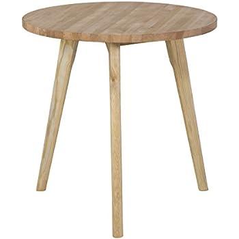 Dekorativer design beistelltisch holz tisch rund 60 cm for Wohnzimmertisch 60 cm