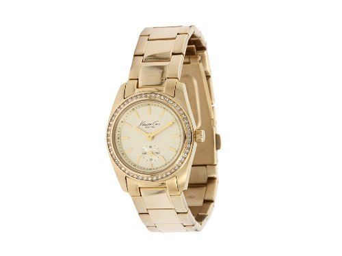Kenneth Cole Ladies Gold Stainless Steel Bracelet Watch Kc4789