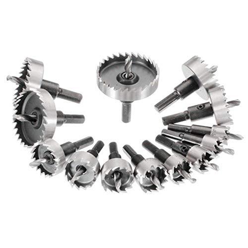 Busirde 13PCS / Set Hohe Qualität HSS HSS-Lochungen Opener Bohrer Stainless Metall Reibahle 16-52mm DIY Werkzeug