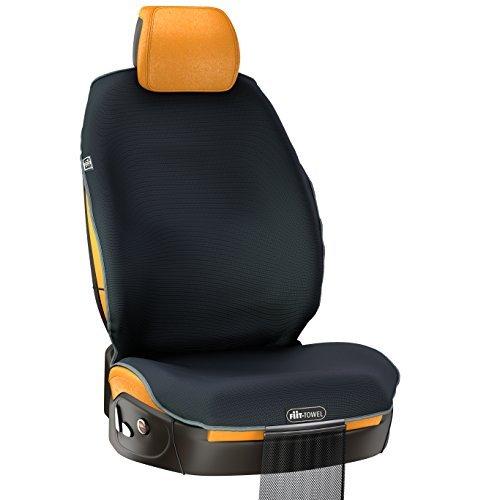 Preisvergleich Produktbild Fit-Towel Autositzbezug Mikrofaser Autositz-Schonbezug Schnell Trocknendes Absorbierendes Silikon Sicher Rutschfest Geruchsfrei Universal-Größe – Maschinenwaschbarer Autositz-Schonbezog mit Aufbewahrungsbeutel von TiiL (Schwarz)