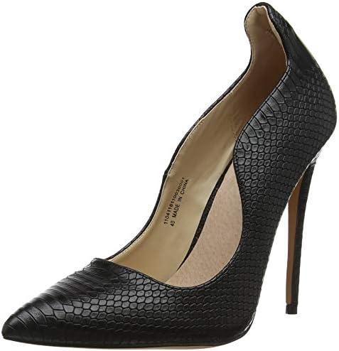 Lost Ink Abi Curved Topline Court (Wide Fit), Zapatos de Tacón con Punta Cerrada para Mujer