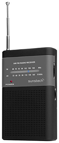 Sunstech RPS42 - Portable Radio with Speaker, Color Black