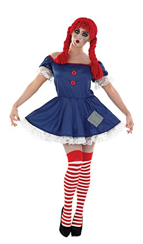 Adult Rag Doll Adult Womens Halloween - Spooky Doll Kostüm