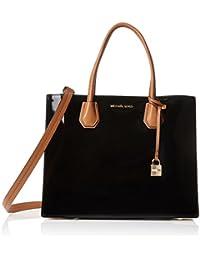 Michael Kors Women's Large Mercer Bonded Jerome Patent Leather Tote Shoulder Bag