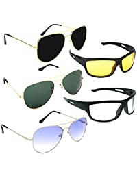 7d7f4a05668 Elligator UV Protected Multiolour Aviator and Wayfarer Unisex Sunglasses