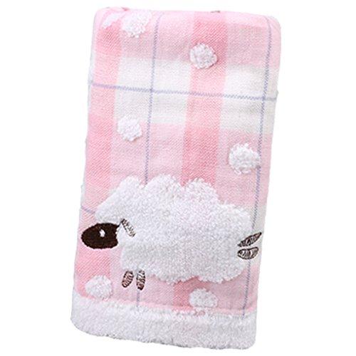 Preisvergleich Produktbild Sunlera Doppelte Schichten Cotton Cartoon Schafe Gesicht Handtuch Schwitz Absorbent für Sport Kinder Erwachsene