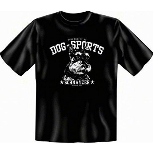 geil bedruckte T-Shirt mit Hunde Motiv / Schnauzer ! Schwarz