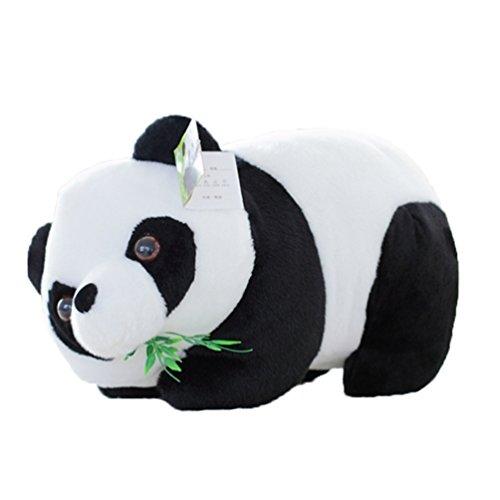 Good Night Charmant Panda Poupée en peluche, Marcher Panda Manger Bambou