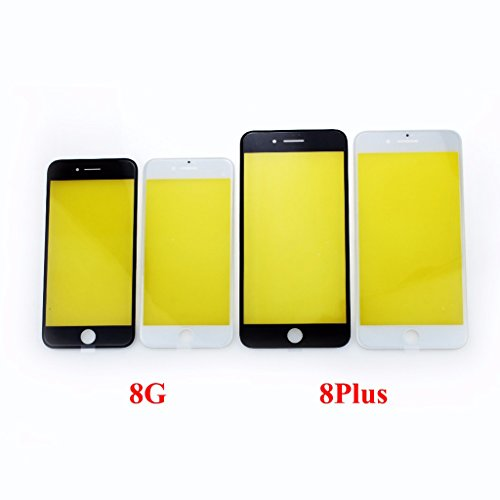 Für iPhone 8/8Plus Vorne Außen Screen Glas-Objektiv Cover mit Blende Rahmen + Gratis Werkzeug, for iPhone 8 4.7
