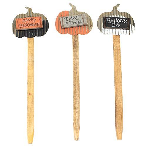 Honig in Me Kürbis Fall Medley 22x 6Metall Schild aus Holz Halloween dem Spiel Set von 3