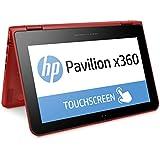 HP Pavilion x360 11-k102ng 29,5cm (11,6 Zoll HD) Convertible Notebook (Intel Celeron N3050, 4 GB RAM, 500 GB HDD, Windows 10) rot