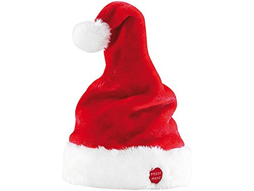 Wackelt Kostüm - Monsterzeug Tanzende Weihnachtsmütze mit Sound, singende Nikolausmütze wackelt, rockende Mütze Weihnachten, You Make me Wanna Shout Song