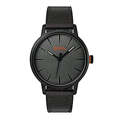 Hugo Boss Orange Mens Analogue Classic Quartz Watch with Leather Strap 1550055