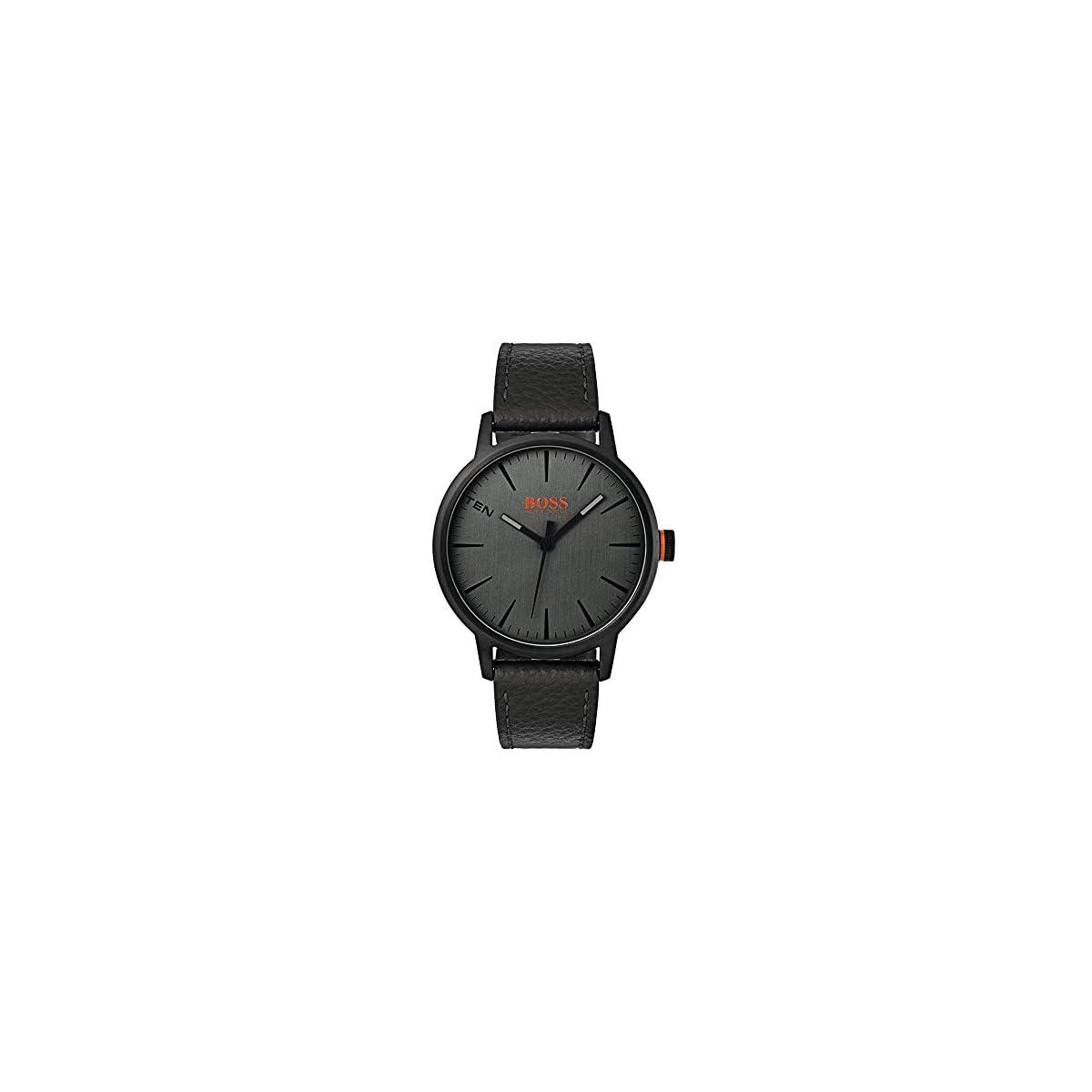 41MgujR8ckL. SS1200  - Hugo Boss Orange Reloj Análogo clásico para Hombre de Cuarzo con Correa en Cuero 1550055