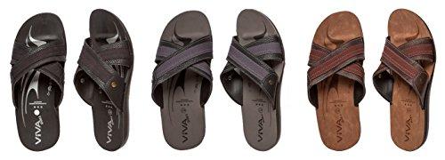 Herren Sandale mit Kreuzriemen in 3 Farben und 6 Größen Schwarz