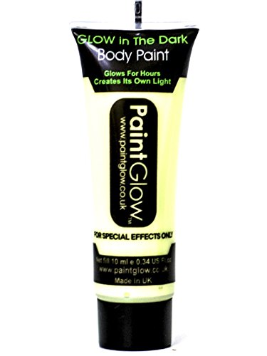 w in the Dark Body Paint Klar 10ml (Glow In The Dark Make-up)