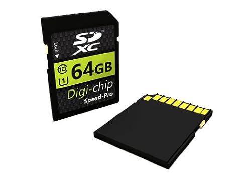 Digi-Chip SDXC Memory Card 64 GB Class 10 for Canon Digital SLR Cameras EOS 5D Mark III EOS 60Da EOS 650D EOS M EOS 6D EOS 70D EOS 100D EOS 700D EOS 600D EOS 1100D EOS 60D and EOS 550D
