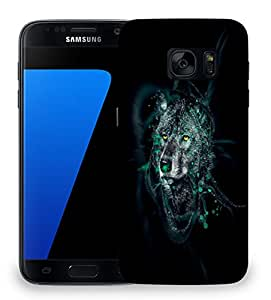 Snoogg Dark Wolf Designer Protective Phone Back Case Cover for Samsung Galaxy S7 Edge