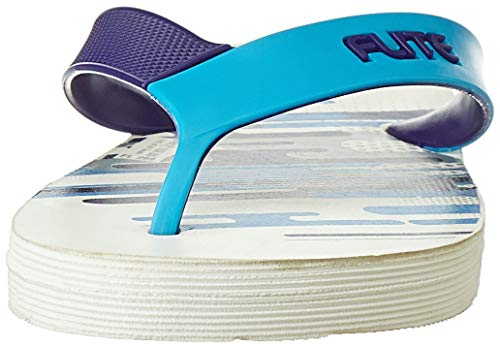 FLITE Men's White Blue Flip Flops Thong Sandals-8 UK/India (42 EU) (FL0299G)