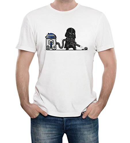 Star Wars Darth Vader and R2 Funny T Shirts Men Women Geek Tee-Shirt 5 Colours XS-4XL