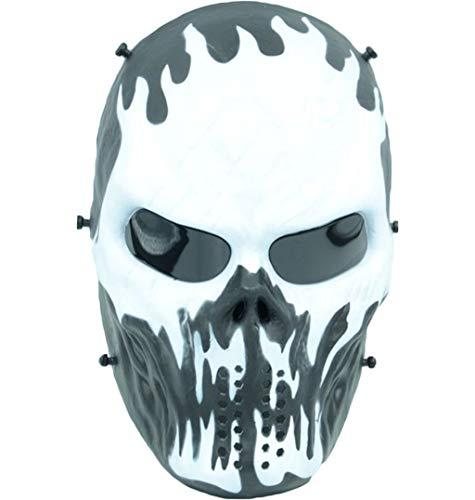 Deathstroke Mask Halloween Ritter Maske Cosplay Erwachsene Männer Integralhelm Kostüm Film Karneval Kostümzubehör,O-29 * 22cm ()