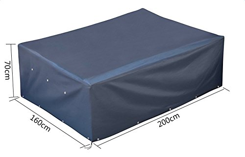 Ruikey Patio Set Cover Cube Waterproof Dustproof Garden Patio Furniture Table Cover 200×160×70cm