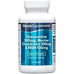 Glucosamina, Condroitina y MSM - 120 Comprimidos - SimplySupplements