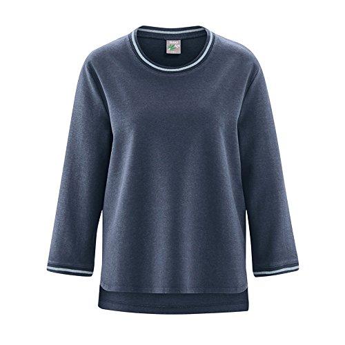 HempAge Damen Pullover Bio-Baumwolle/Hanf Wintersky XL (Hanf Baumwolle Pullover)