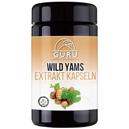 Guru Wild Yams Extrakt Kapseln - rein natürlich - UV Glasdose 120 Stück à 500 mg