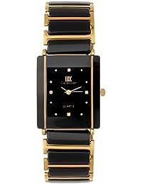 IIk Collection Watches Rectangular Analogue Black Dial Unisex Watch (IIK-081M)