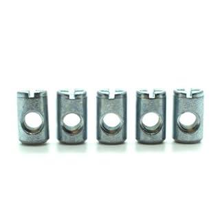 Zylindermuttern, Quergewindebolzen, 10Stück, M6-Gewinde, –10mm auf 16mm für 19mm dicke Platten–Möbelverbinder, Möbelbefestigungen–BNUT001