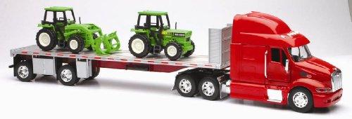 Camion de collection 1/32 Peterbilt 387 Flatbed Avec Tracteurs