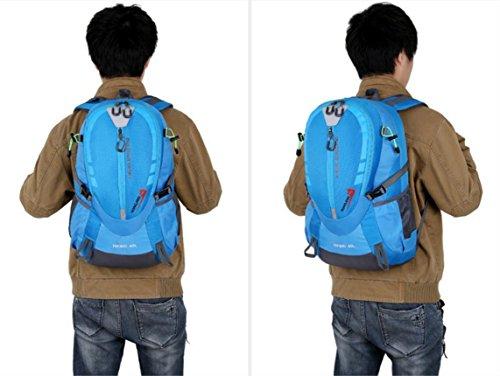 LQABW Freizeit Mode Wasserdicht Oxford Tuch Polyester Leichtes Wandern Berg Durable Rucksack Tasche LightBlue