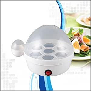 Puregadgets White Exclusive Electric Egg Boiler Cooker for up to 7 Eggs Exra Tough construction produces 7 perfectly boiled eggs