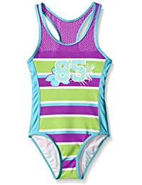 Limited Too Girls' Bold Striped One-Piece Swimsuit with Mesh