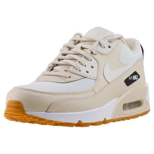 Nike Wmns Air Max 90, Chaussures de Gymnastique Femme Beige (Fossilsailblackgum Light Br 207)