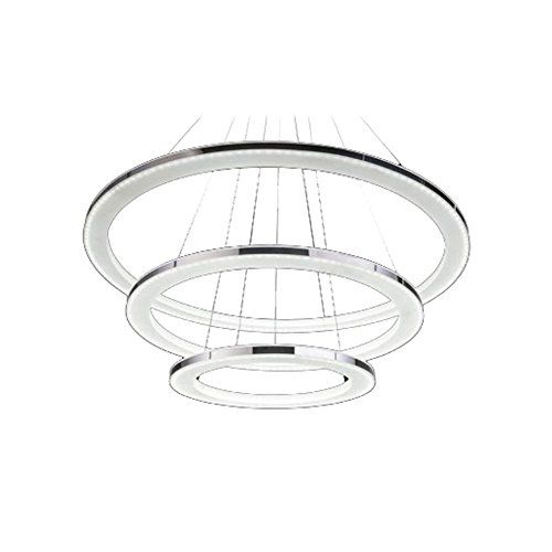 Modernen LED Kronleuchter, 3-Ringe Anhänger LED-Licht Deckenleuchte - 2