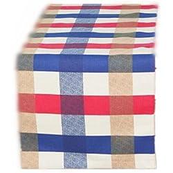 XIAOMEIXI Camino de mesa 100% algodón corredor de la tabla sin la tabla de la tapicería de la tela escocesa de las borlas para los tamaños múltiples de la decoración casera de la boda , 30*200cm