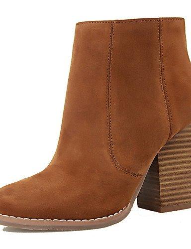 WSS 2016 Chaussures Femme-Extérieure / Bureau & Travail / Soirée & Evénement-Noir / Marron / Rouge / Gris / Kaki-Talon Compensé-Talons / Bout brown-us6 / eu36 / uk4 / cn36