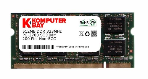 Komputerbay 512MB DDR SODIMM (200 pin) 333Mhz DDR333 PC2700 CL 2.5 512 MB